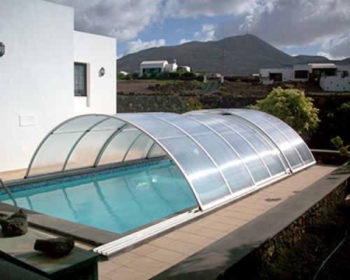 domed pool covers lanzarote