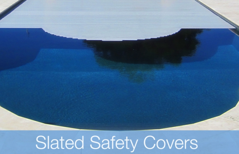 slated pool cover installed lanzarote